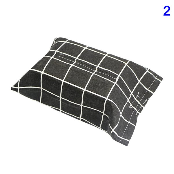 1 Pcs Linen Tissue Box Home Kitchen Living Room Paper Cover Bag Napkin Holder Tissue Boxes HUG-Deals