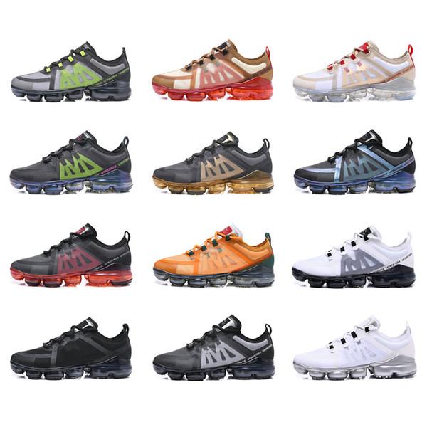 NEVP19d venta caliente barato Hombres Mujeres Deportes zapatos al aire libre Vapores Volados PRM 2019 Tejido Oficial de lujo diseñador zapatillas de deporte Transpirable Durable