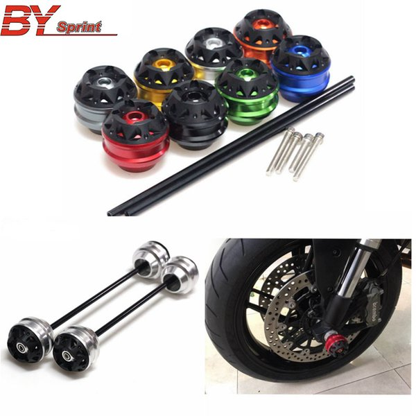 For 749 2003-2006 CNC Modified Motorcycle Front and Rear wheel drop ball / absorber