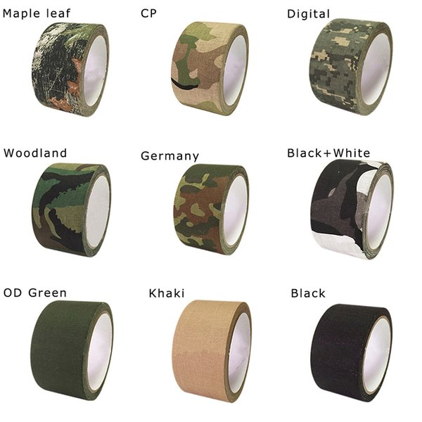 5m outdoor duct camouflage tape wrap rifle gun hunting waterproof adhesive camo tape stealth bandage 0.05m x 5m /2inchx196inch thumbnail
