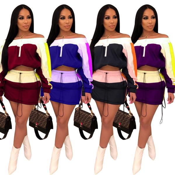 2019 Riflettente a due pezzi Set Abbigliamento donna Festival Crop Top e Biker Shorts Suit Sexy Club Outfits Set coordinato da tuta