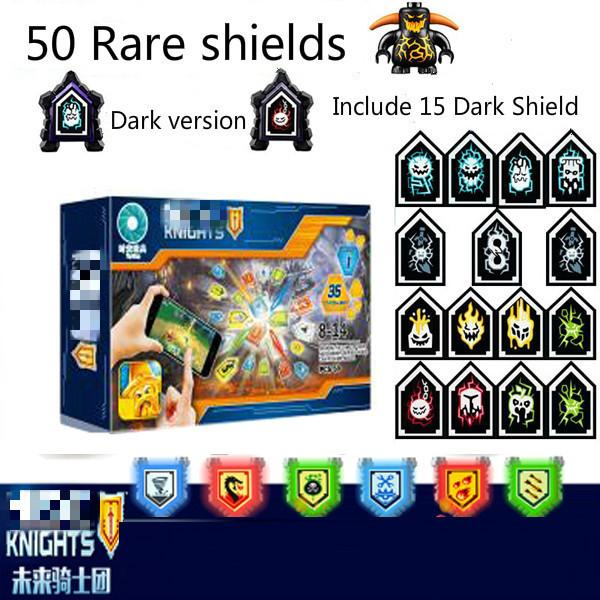 Nexoe Knights Rare Shields Model Building Blocks Castle Warrior Nexus Toys For Children Compatible With Legoed Scannable