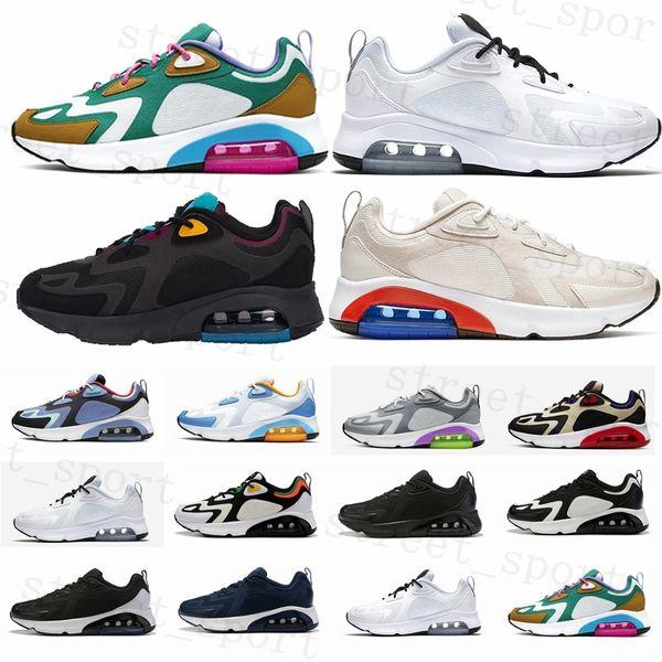 Zapatillas de deporte para hombre Bordeaux 200 2019 Mystic Green White Gold Desert Sand 200s Cushion Designer Sneakers Air Trainers des chaussures Homme