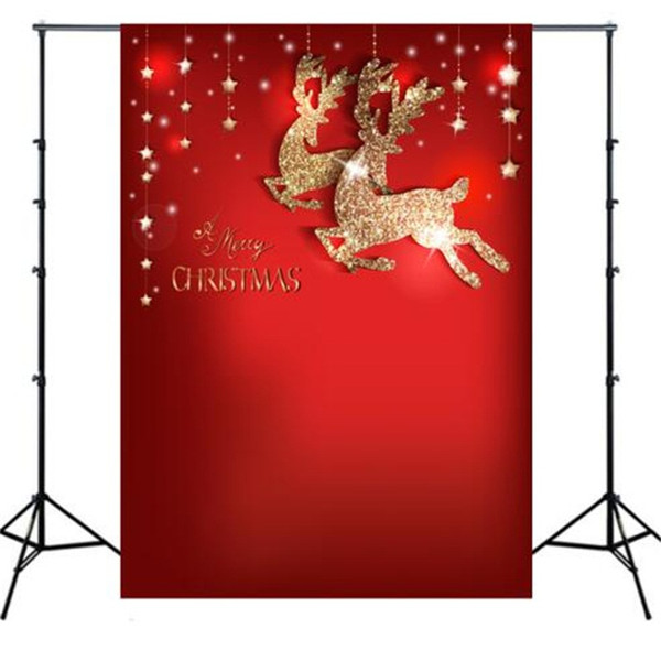 Christmas Take Photos Curtain 3D Studio Child Photography Backdrop Cloth Nostalgic Wooden Plank Wall Background Clothing Creative 26yz L1