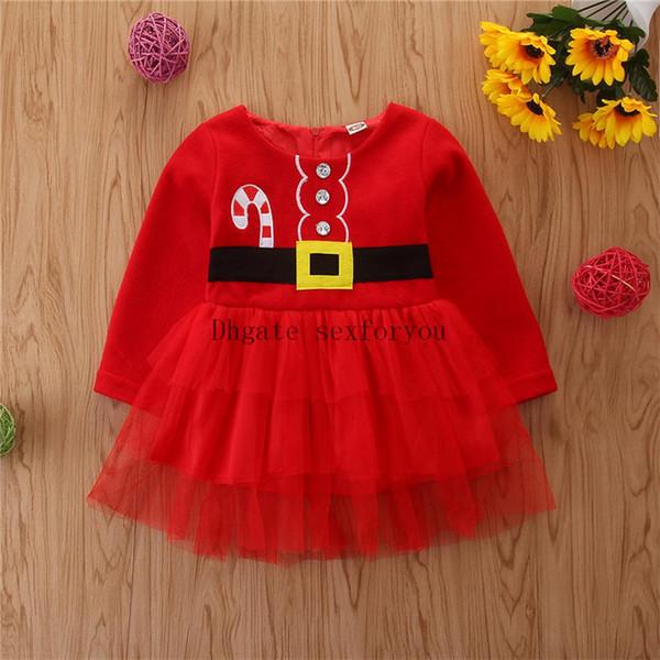 Lovely Girls bébé Père Noël robe Vêtements mignons de Noël de cristal Porter bébé Bébés filles Mini robe Tenues Costume