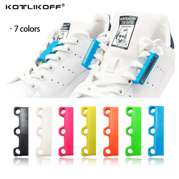 KOTLIKOFF 1 Pair 6 Colour ShoeLaces Magnetic Shoelace Buckle Lazy Closures Lacet Chaussure Shoe Laces No to Tie lazy Shoe laces