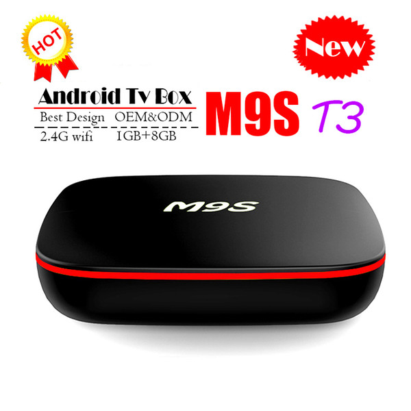 2020 Cheapest M9S T3 Allwinner H3 Quad Core 1GB DDR3 8GB EMMC Smart Android TV BOX 2.4G WIFI 4K*2K Android Media Player Better TX3 TX2 TX9