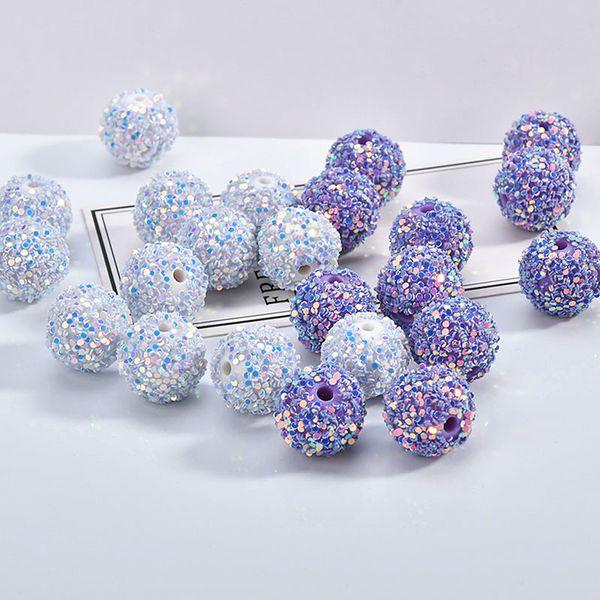 Mode neue ab farben korea stil bling glitter rounr ball perlen passen perlen charm halskette schlüsselanhänger armband ohrring diy dekor