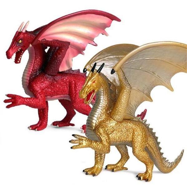 Drachen Figur Mythische Tiere Figuren Modell Spielzeug Solide Toy Boy Geschenke Metall Super Red Flying Apsaras Blue Dragon 13 5xs O1