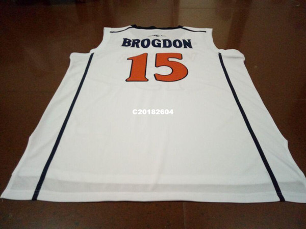 pretty nice c2356 91506 2018 Men #15 Malcolm Brogdon Virginia College White Retro Stitched  Personalized Or Custom Any Name Or Number College Jersey From C20182604,  $19.5 | ...