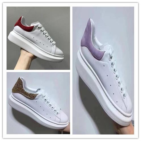 Designer Luxus Mann Casual Fitness Schuhe Leder Herren Damen Mode Weiß Leder bequeme Schuhe Flache Freizeitschuhe Daily Jogging