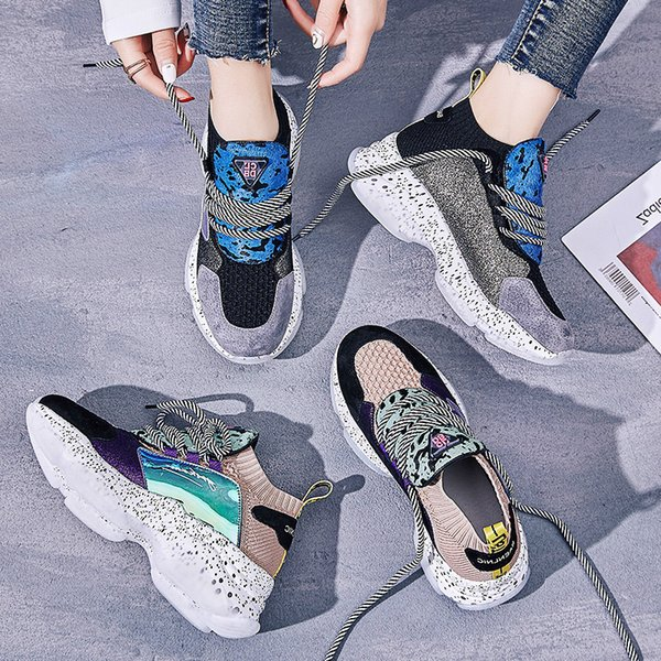 Wholesale New Casual Women Shoes Hot Classic Fashion Autumn Trend Sports Women Shoes Mixed Colors Comfortable Soft Sneaker