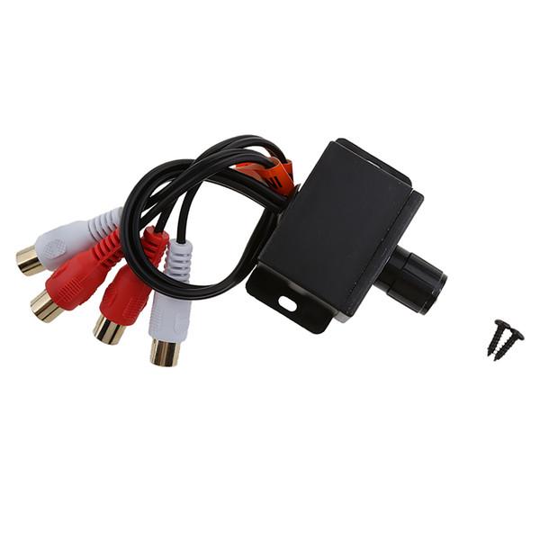 top popular Universal Car Audio Amplifier Sound Adjuster RCA Level Remote Bass Control 2021