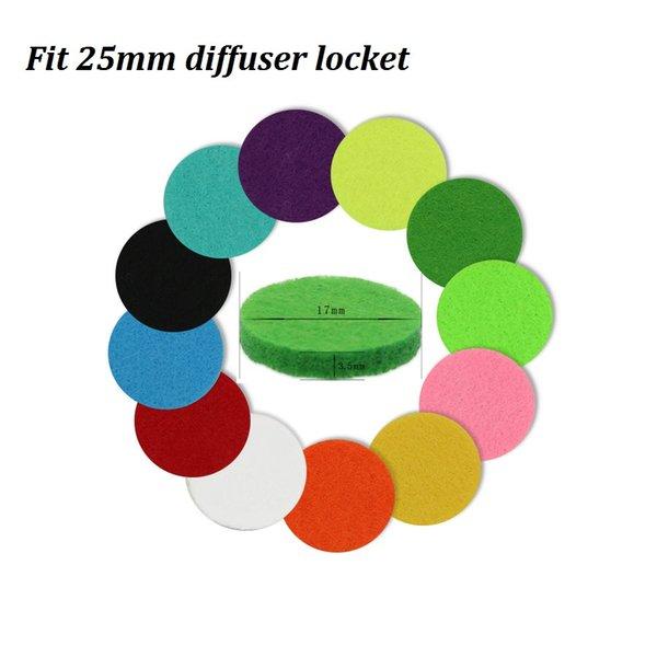 17 mm en forma de medallón de 25 mm