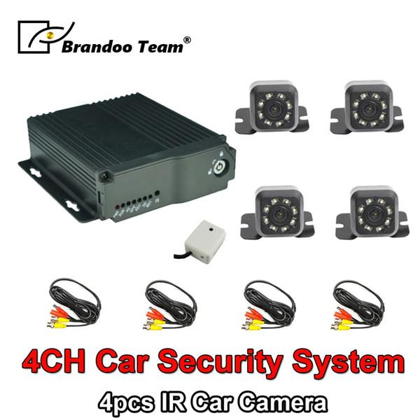 4 Kanal H.264 SD Auto Fahrzeug Mobile DVR Kits 4CH Video Rekord Auto Dvr MDVR Kit + 4 stücke kameras analoge kamera
