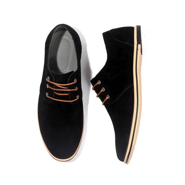 Cow suede Men's loafer Lace up man flats Patchwork shoes big size Men's leisure shoe 49 50 Coloured genuine leather shoe zy343