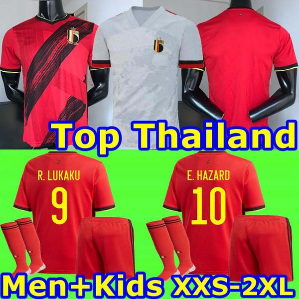 Euro 2020 Belgique maison loin Lukaku RISQUE DE BRUYNE KOMPANY MERTENS ENFANTS Soccer Jersey 19 20 Europa League Adult shirt de football de sport