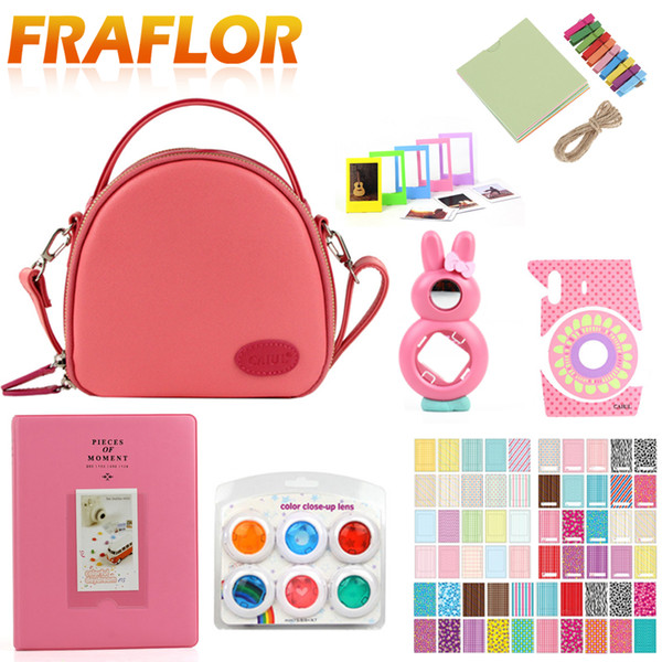 General Purpose Instax Mini Accessories Set Camera Case Shell Bag+Photo Album+Wall Hanging Film Frames+ Frame+Filter