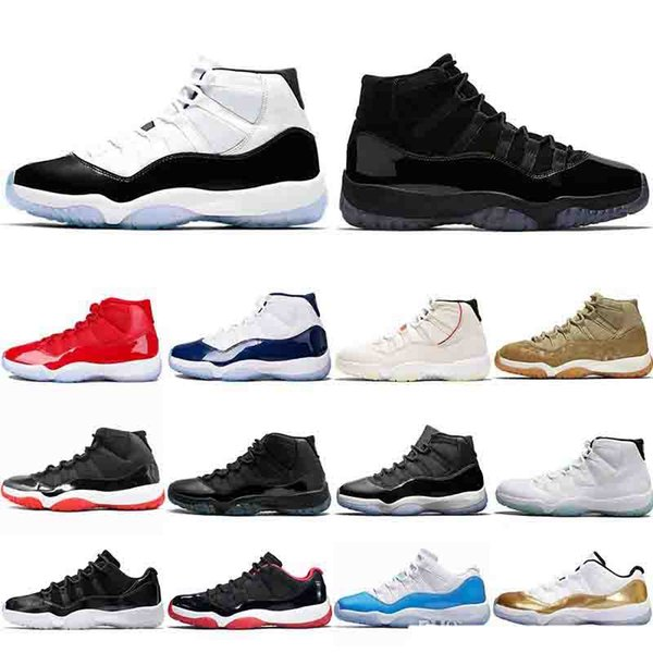 Concord 45 11 11s Basketball Shoes for mens Platinum Tint CAP AND GOWN ROSE GOLD GAMMA BLUE fashion luxury mens women designer sandals shoes