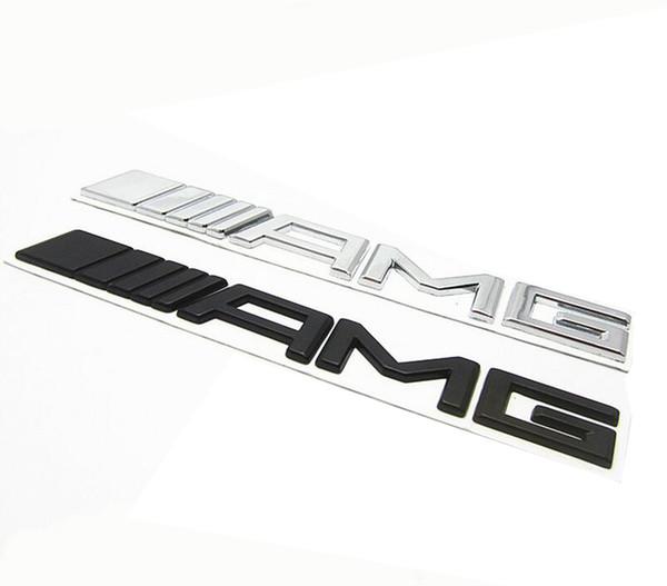 Metal Silver Chrome Black 3M AMG Decal Sticker Logo Emblem Car Badges