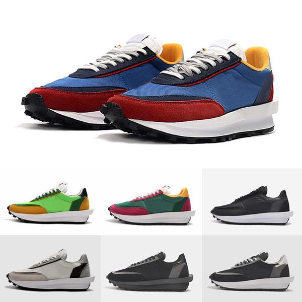 Outlet Online 2019 Sacai LDV Waffle Scarpe Da Corsa Donna Uomo Sneakers Firmate Scarpe Da Ginnastica Nero Grigio Verde Varsity Blu Des Chaussures
