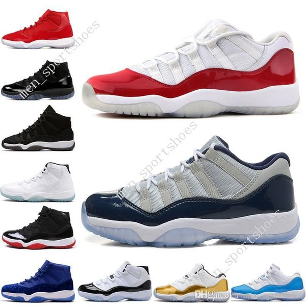11 11s Cap and Gown Prom Night Mens Basketball Shoes Gym Red Bred PRM Velvet Heiress Blue Barons Concord men Sports Sneaker outdoor designer