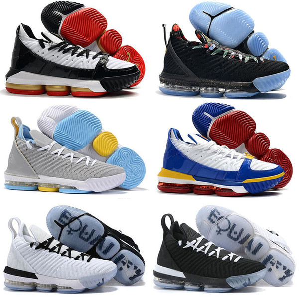 2019 New style Mens LeBRon 16 Kids Basketball Shoes for Sale Promise Black Multi Color Boys Girls Youth Kids Sneakers Tennis