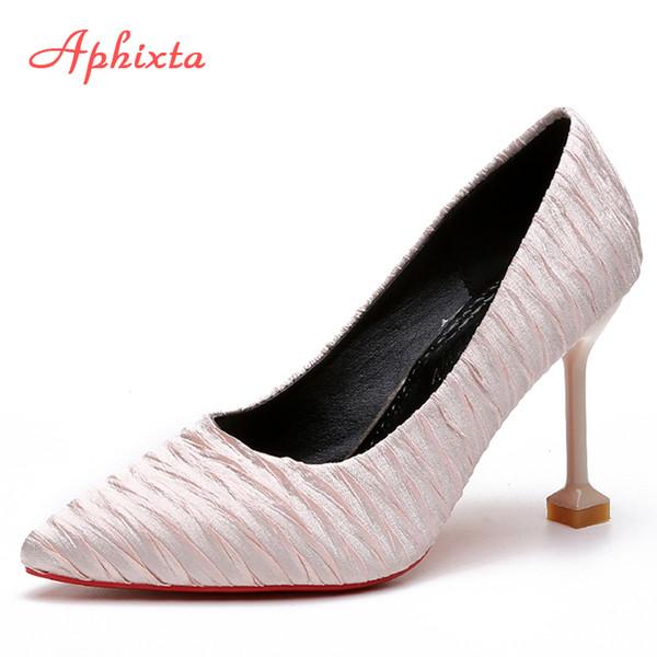 Designer Dress Shoes Aphixta Women Pums Pointed Toe Summer Autumn Classic Pumps Thin Stiletto High Heel Pump Party Dress Womans