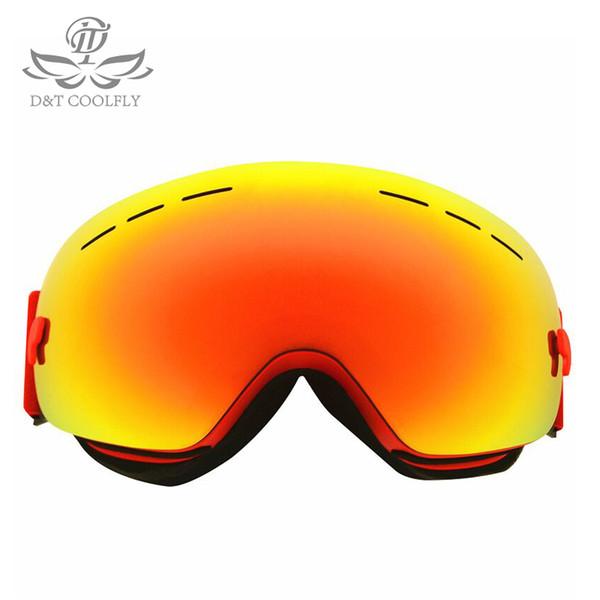 Ski Goggles Double Layers UV400 Anti-fog Big Ski Mask Snowboard Glasses Skiing