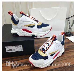 2019 nuevos zapatos deportivos para hombres B22 de alta calidad calientes zapatos casuales moda mujer diseñador francés marca zapatos casuales 36-46