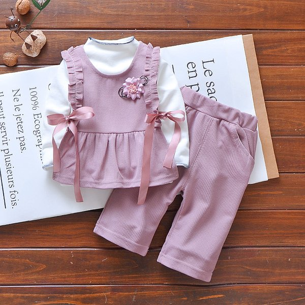 Baby girls Clothes Set Cotton Long Sleeve Sets For Newborn Baby girls Outfits Girl Clothing Kids Suits 2 3years