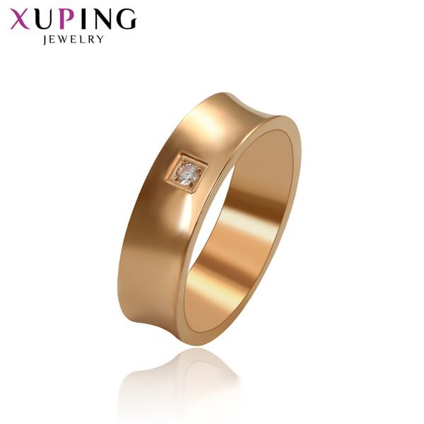 Xuping Moda Takı Lüks Benzersiz Tasarım Yüksek Kalite Kadınlar için Altın Renk Kaplama Yüzük sevgililer Hediyeler S130.1-15976