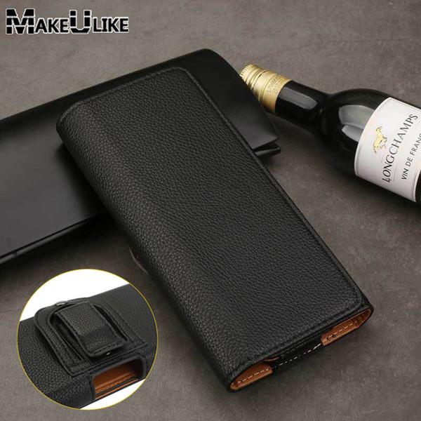 MAKEULIKE PU Leather Case For LG G6 G5 G4 G7 Bags Litch Belt Clip Universal Phone Pouch For LG V20 V30 K10 K7 K4 Case Pocket
