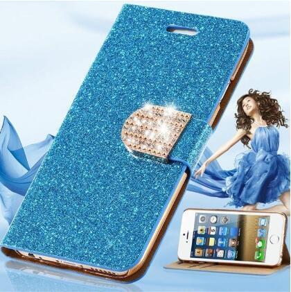 Hot Sale Glitter Bling PU Leather Women Wallet Case for IPhone 7 7 Plus 6 6s 6 Plus 6s Plus
