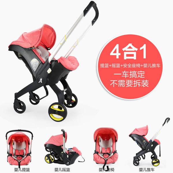 Auto faltbare tragbare Wiege Ein Neugeborenes Baby Trolley Neugeborene Kinderwagen Auto Babytrage Kinder Schlafkorb 4in1