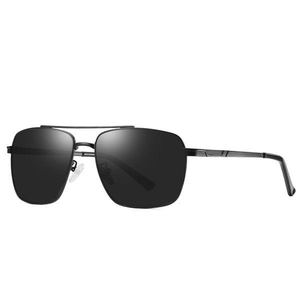 New brand designer sunglasses fashion classic polarized sunglasses riding driving sunglasses gold square metal frame retro style send box