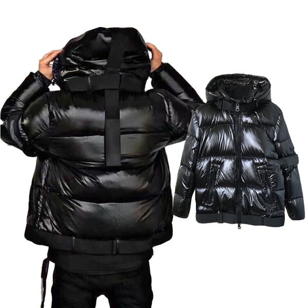 Mon-807 whiteiswhite estilo clásico de la chaqueta del cortocircuito del hombre caliente de la capa capa de la prendas de vestir hacia abajo brillante fashon negro traje de los hombres capa ocasional
