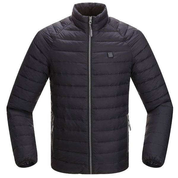 Men Electric Heating Jacket Winter Outerwear Casual Clothing Super Warm Adjustable Temperature Windproof Sports Stand Collar
