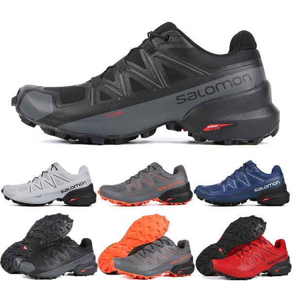 brand new 4856c 51d0f Großhandel 2019 Salomon Speedcross 5 CS Herren Damen Laufschuhe Top  Qualität Herren Turnschuhe Wasserdicht Leichtathletik Turnschuhe Joggen  Wandern 7 ...