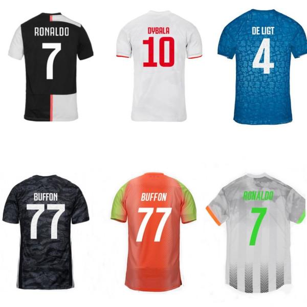 19 20 cristiano ronaldo jersey DYBALA DE LIGT CUADRADO tops BUFFON goalkeeper jersey palace camisetas de futebol
