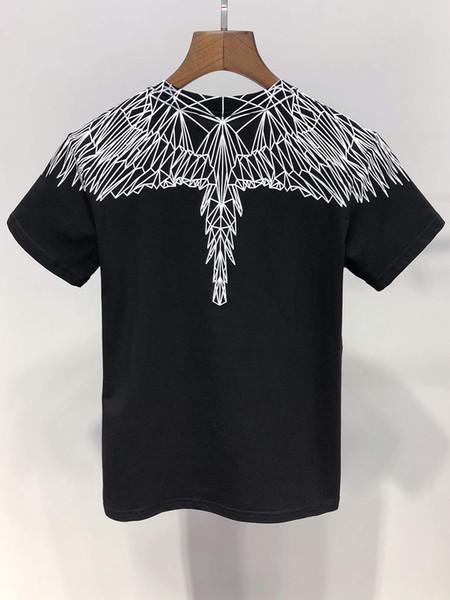 Moda Yeni Melek Kanatları baskı erkek / kız Tops Tees yaz 100% pamuk Marka Giyim T Gömlek
