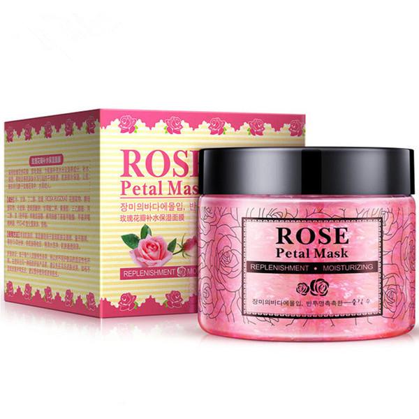 Des pétales de rose Hydratante Visage Masque Nourrissant peau Masque Lifting visage vif pétales d'argile Masques de couchage traitement masque noir DHL gratuit