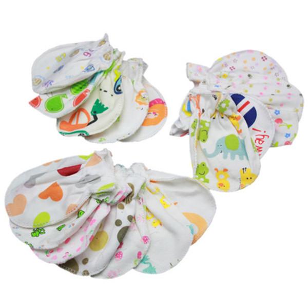Bebé ama guantes anti agarre cuidado del bebé recién nacido Anti Scratch Gloves niños recién nacido Animal print Mitones Venta al por mayor ZFJ662