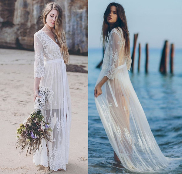 Cover Up Beach Woman Swimsuits Sexy Pareo De Plage Outings For Women Beachwear Euro Eye Embroidered Dress Wedding Solid