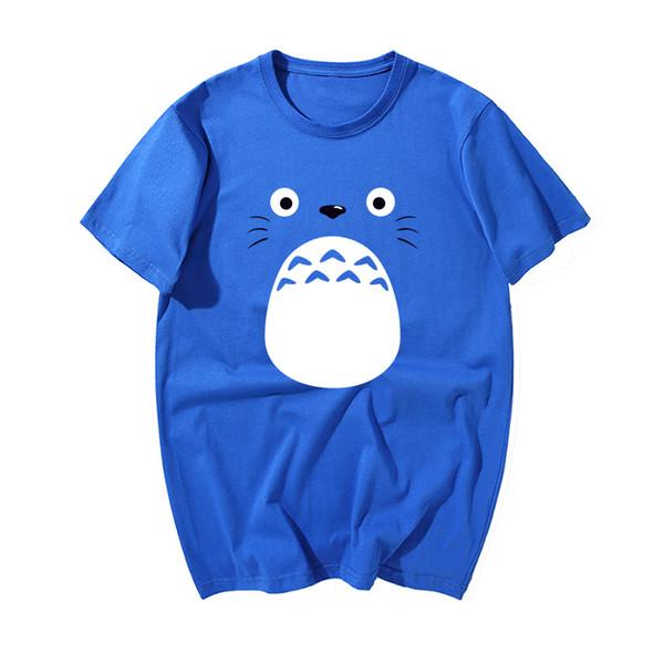 Мода японского аниме Tshirt Kawaii Tonari Нет печати T Shirt Men 2019 Новое лето хлопка высокого качества с коротким рукавом Футболка
