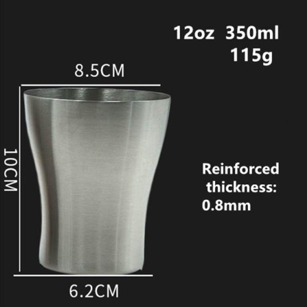 12oz 350ml vase shape