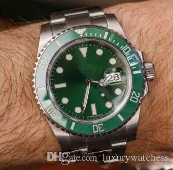 fashion WATCHES Black Ceramic Bezel Dial Stainless Steel Bracelet Automatic 2813 Movement Mens Watch Luminous Wristwatches