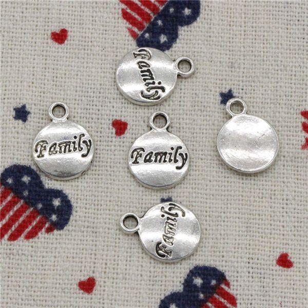 342pcs Charms plates family 11mm Pendant,Tibetan Silver Pendant,For DIY Necklace & Bracelets Jewelry Accessories