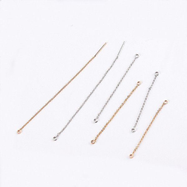 wholesale 20 PCS 44mm 54mm 84mm Length Rhodium Gold Earrings Accessories Chain Connector Long Ear Wire For Jewelry Making