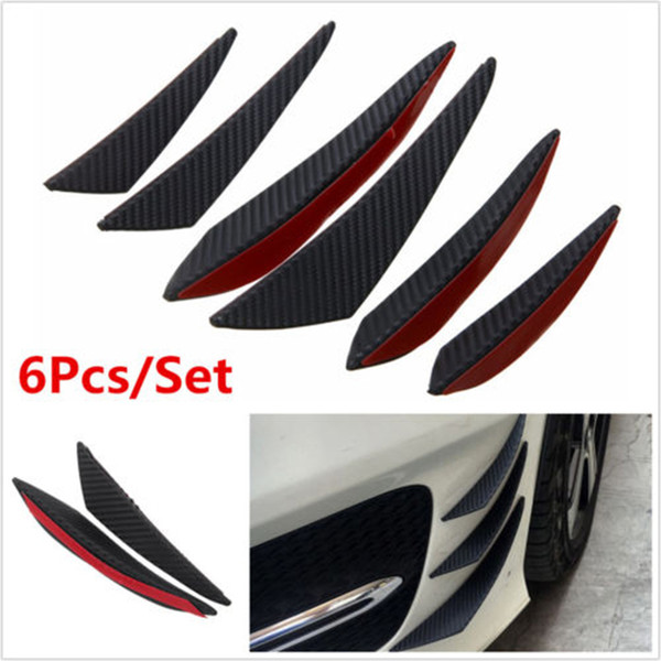 For BMW F30 Carbon Fiber Bumper Fin Canard Splitter Diffuser Valence Spoiler Lip